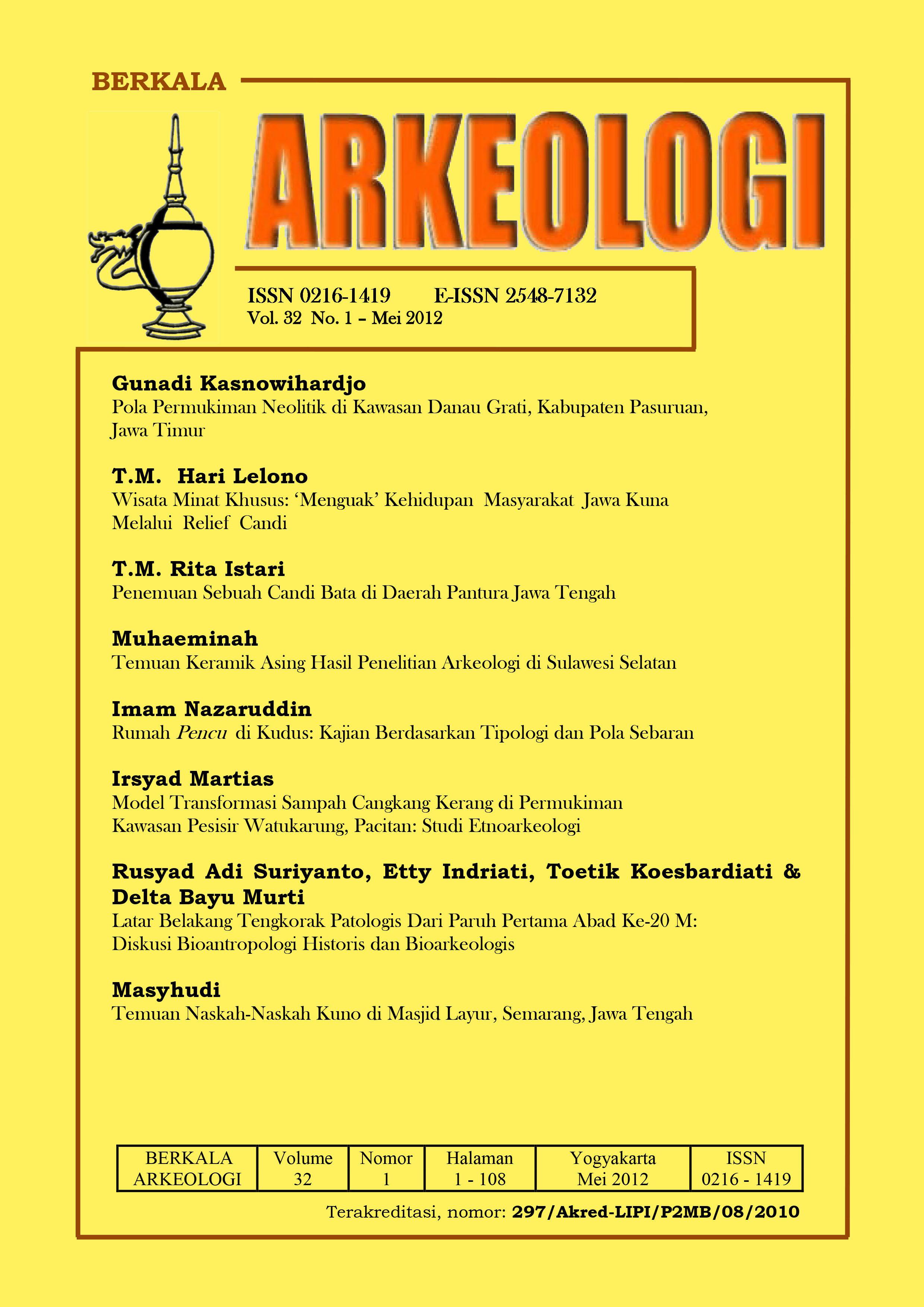 BERKALA ARKEOLOGI May 2012