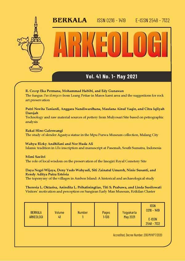 Berkala Arkeologi Volume 41 No. 1 May 2021