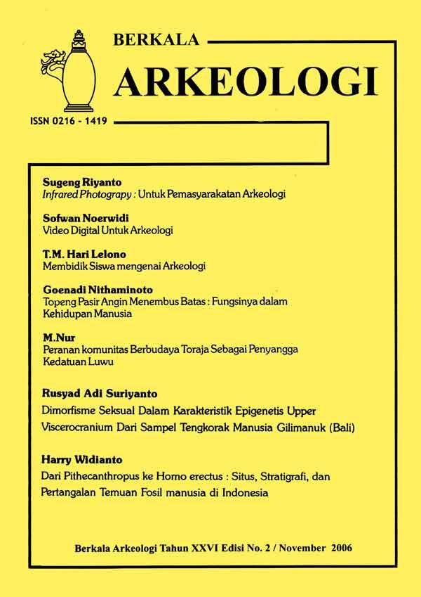 Berkala Arkeologi Volume 26 No. 2 November 2006